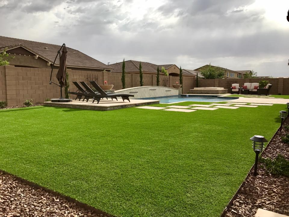 ArtificialGrassBackyardLandscapingChandlerGilbertAZ