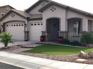 Front Yard Remodel - Artificial Grass and Pavers - Mesa AZ