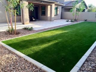 New Home Backyard Landscaping - Artificial Grass - Gilbert AZ
