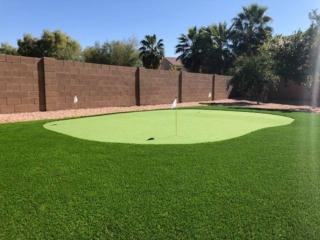 Artificial Turf Putting Green - Queen Creek AZ - The Yard Stylist