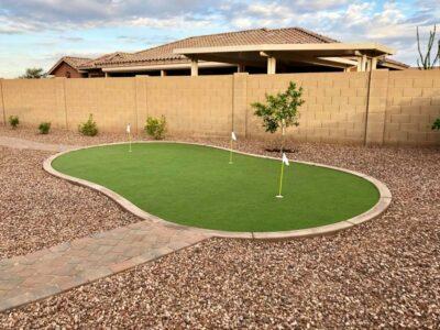 Putting Greens Artificial Grass - Landscaping - Queen Creek AZ