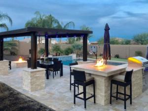 Outdoor Kitchen - Yard Stylist - Gilbert, AZ - Patio Grill Table Fire Pit Pergula