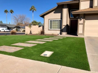 Artificial Grass – Front Entrance Paver Walkway to Door – Yard Stylist – AZ