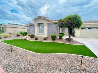 Artificial Grass – Front Lawn – Decorative Rock and Edging – Landscaping Plants – Yard Stylist – Chandler, AZ
