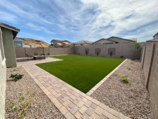 Artificial Grass – Hardscapes – Paver Walkway – Patio – Yard Stylist – Eastmark, AZ