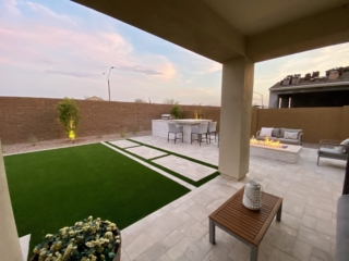 Artificial Grass Installation – Gilbert AZ Back Yard Turf, Pavers, Outdoor Kitchen – The Yard Stylist