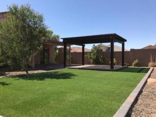 Artificial Grass Installation – Gilbert AZ Dogs – Pergola – The Yard Stylist