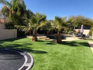 Artificial Grass Installation – Gilbert AZ Full Backyard with Patio – The Yard Stylist
