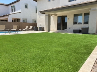 Artificial Grass Installation – Large Area Next to Pool – Gilbert AZ – The Yard Stylist