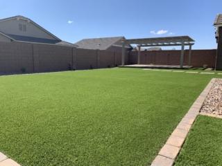 Artificial Grass Installation – Mesa AZ – Entire Backyard – The Yard Stylist