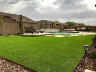 Artificial Grass Installation – Mesa AZ – Large Area with Patio – The Yard Stylist