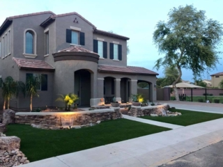 Artificial Grass Installation – Queen Creek AZ – Both Sides of Driveway – The Yard Stylist