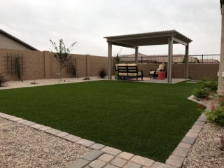 Artificial Grass Installation – Queen Creek AZ – Pergola and Landscaping – The Yard Stylist