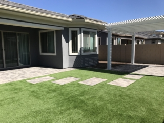 Artificial Grass Installation – Queen Creek AZ – with Embedded Pavers – The Yard Stylist