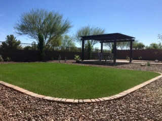 Artificial Grass Installation – San Tan Valley AZ – Area for Dogs – The Yard Stylist