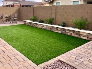 Artificial Grass Installation – San Tan Valley AZ – Patio and Seating – The Yard Stylist