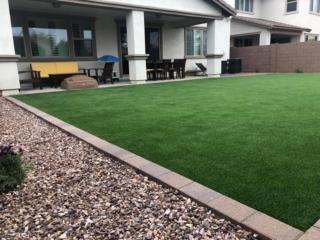Artificial Grass – Paver Edging and Decorative Rock – Yard Stylist – Recker Pointe AZ