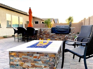 Fire Pit – Outdoor Kitchen – Paver Patio – Yard Stylist – Gateway Quarter AZ