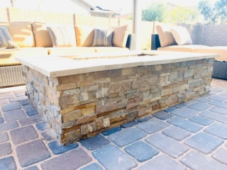 Fire Pit – Paver Patio – Outdoor Seating – Yard Stylist – Morrison Ranch, Gilbert AZ