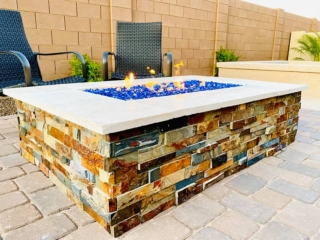 Fire Pit – Paver Patio – Yard Stylist – Gateway Quarter AZ