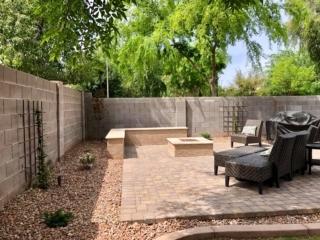 Fire Pit – Paver Patio with Seating – Decorative Rock – Yard Stylist – Ashland Ranch AZ