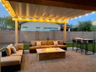 Fire Pit – Pergola – Paver Patio – Outdoor Lighting – Yard Stylist – Morrison Ranch, Gilbert AZ