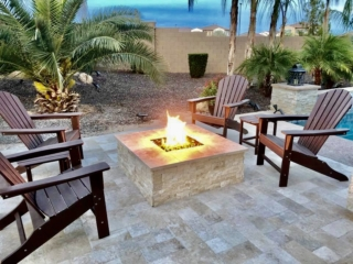 Fire Pits and Outdoor Fireplaces – Mesa AZ – Lit – The Yard Stylist