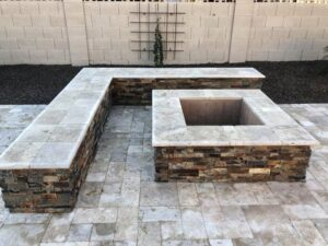 Fire Pits and Outdoor Fireplaces - Mesa AZ - Seating Walls - The Yard Stylist