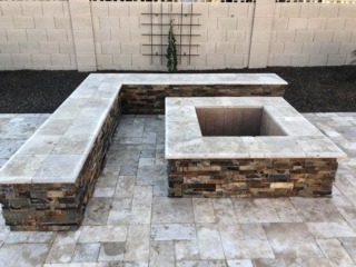 Fire Pits and Outdoor Fireplaces – Mesa AZ – Seating Walls – The Yard Stylist