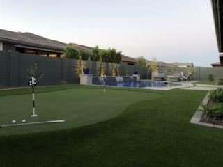 Putting Green in Backyard - Chandler AZ - The Yard Stylist