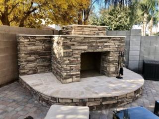 Outdoor Fireplace – San Tan Valley AZ – The Yard Stylist