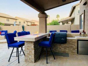 Outdoor Kitchen - Patio Seating - Gilbert AZ - The Yard Stylist