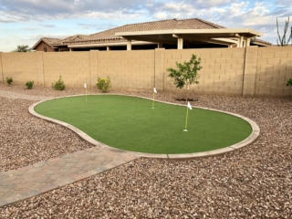 Putting Green Installation – Queen Creek AZ – With Gravel and Paver Walkway – The Yard Stylist
