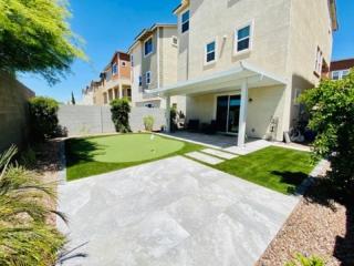 Putting Green – Paver Patio – Artificial Grass – Pergola – Plants – Yard Stylist – Haven, Chandler AZ