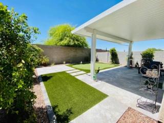 Putting Green – Paver Patio and Walkway – Artificial Grass – Pergola – Plants – Yard Stylist – Haven, Chandler AZ