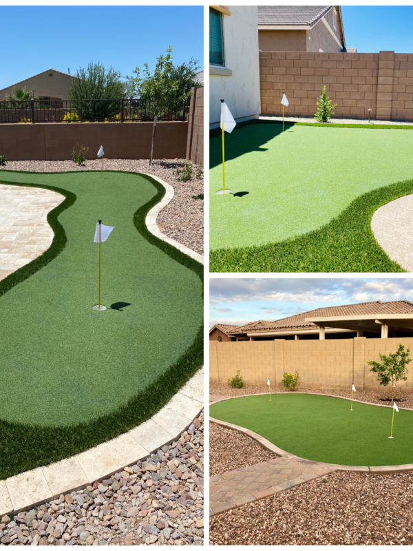 Putting Green Turf Collage - The Yard Stylist